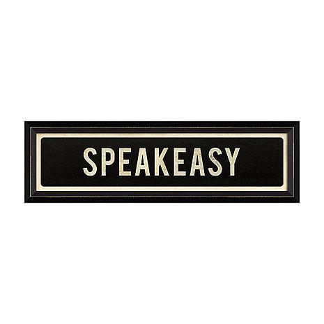 Speakeasy Street Sign