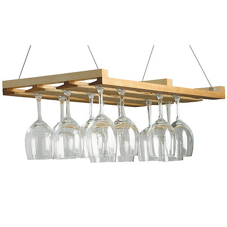 Wooden Stemware Ceiling Rack
