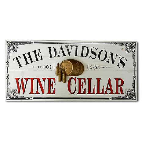 Personalized Wine Cellar Plank Sign