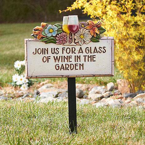 Wine in the Garden Sign