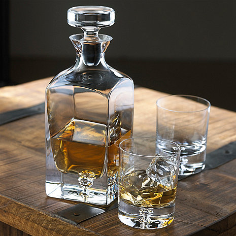 lexington whiskey decanter and glasses set wine enthusiast. Black Bedroom Furniture Sets. Home Design Ideas