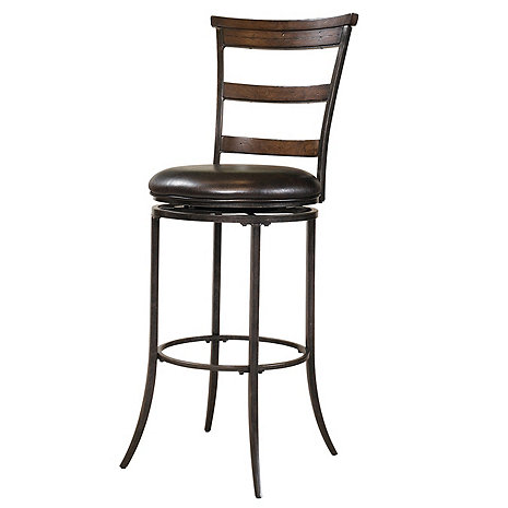 Cameron Ladderback Swivel Bar Stool