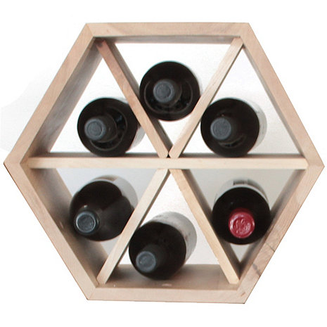Honeycomb Modular Rack with Dividers (Maple)