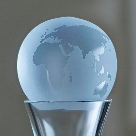 Etched Globe Decanter Stopper