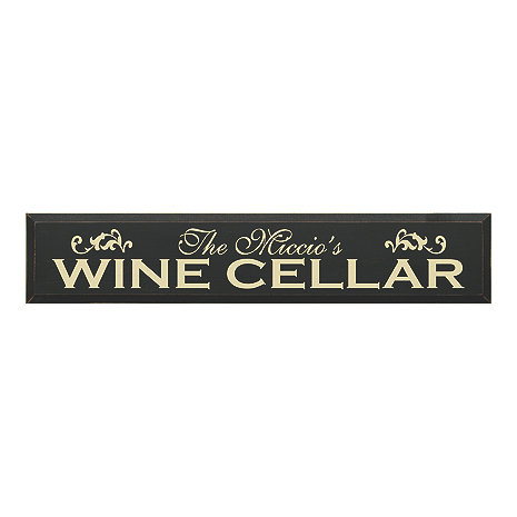Personalized Wooden Wine Cellar Sign (7 X 36)