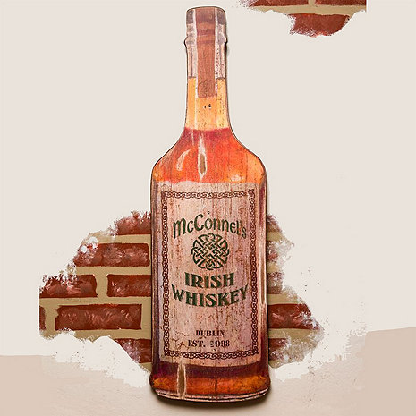Personalized Irish Whiskey Bottle Sign