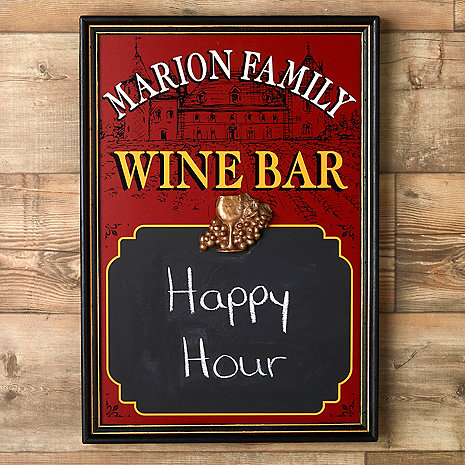 Personalized Wine Bar Chalkboard