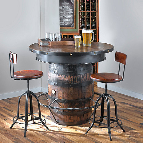 Tennessee Whiskey Barrel Pub Table Wine Enthusiast