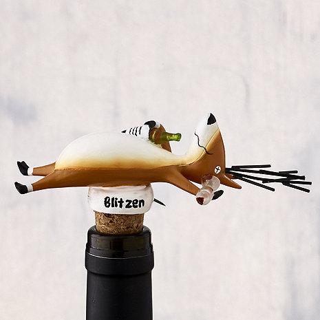 Blitzen Wine Bottle Stopper