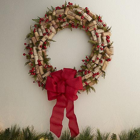 Cork and Berries Wreath