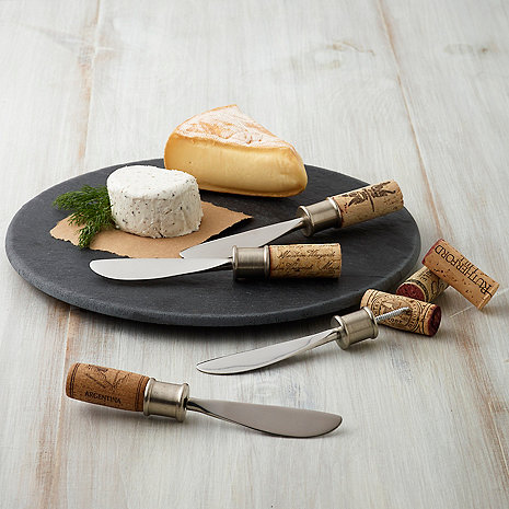 Cork Cheese Spreaders Kit (Set of 4)