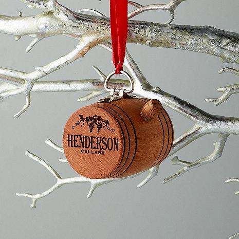 Personalized Wine Barrel Ornament