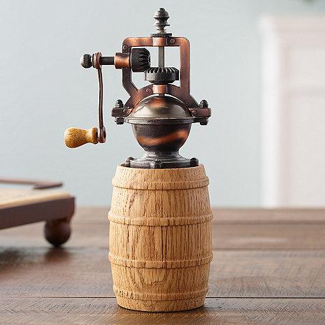 Reclaimed Wine Barrel Pepper Grinder