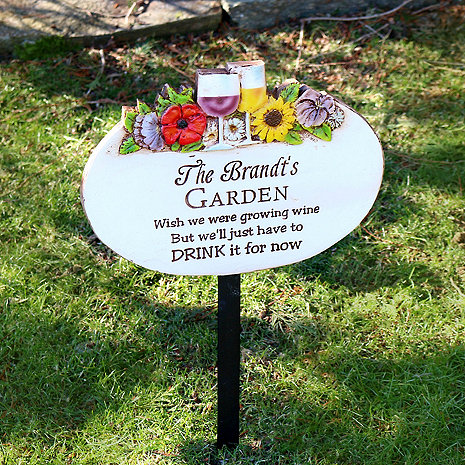 Personalized Floral Garden Sign