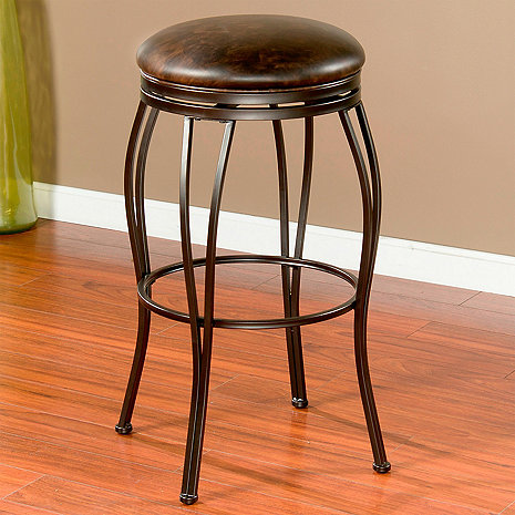 Romano Swivel Backless Stool