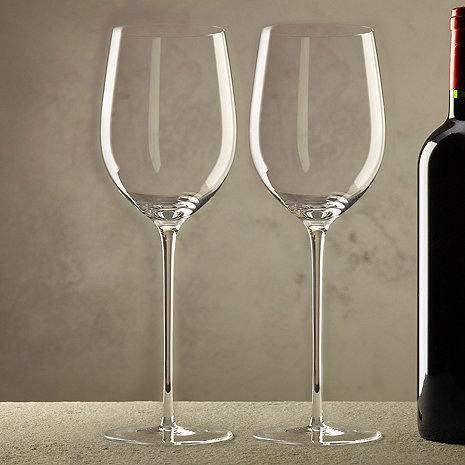 zenology long stem white wine glasses set of 2 wine enthusiast. Black Bedroom Furniture Sets. Home Design Ideas