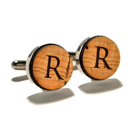Personalized Reclaimed Cork Cufflinks