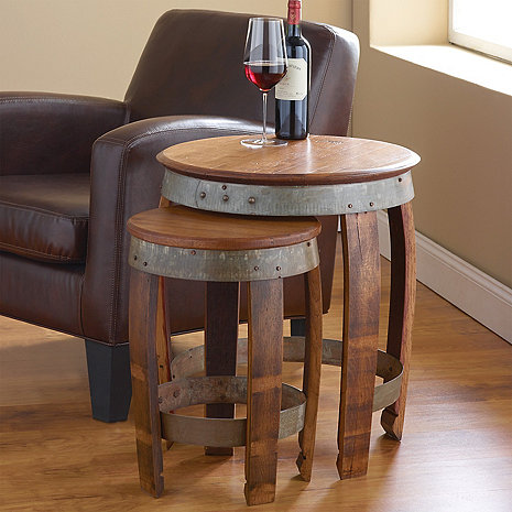 Barrel Head Nesting Tables Wine Enthusiast