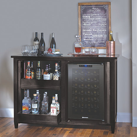 Firenze Mezzo Wine And Spirits Credenza With 28 Bottle
