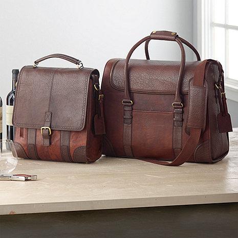 3-Bottle BYO & 6-Bottle Weekender Leather Wine Bag Set