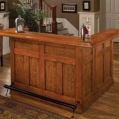 Classic Wrap Around Home Bar (Oak Finish)