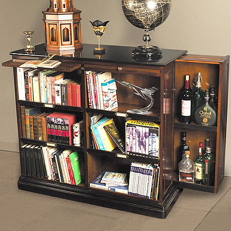 Alchemist Bookcase With Hidden Bar Wine Enthusiast