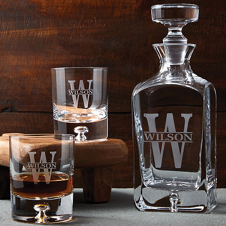 Personalized Lexington Whiskey Decanter and Glasses Set