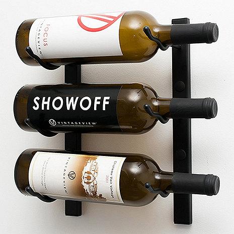 VintageView Wall Series 1 Foot Wine Rack (3 Bottle)