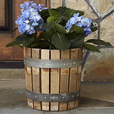 Reclaimed Barrel Stave Planter