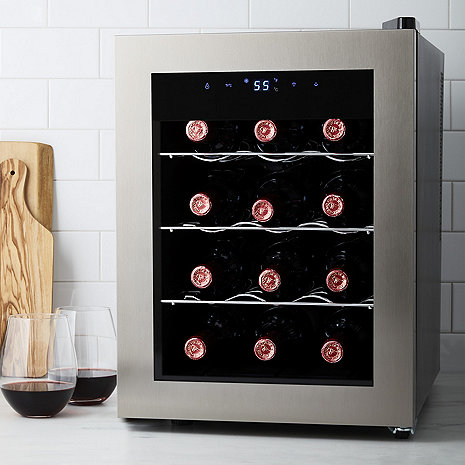 Wine Enthusiast Silent 12 Bottle Silent Wine Refrigerator (Seamless Stainless Steel Door)