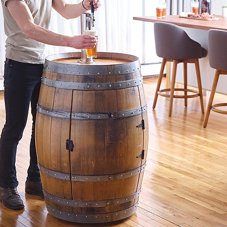 Recycled Wine Barrel Kegerator