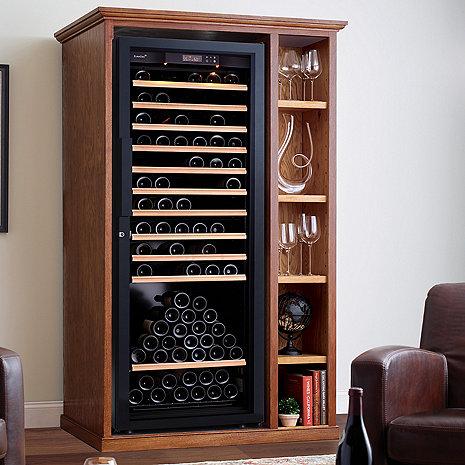 XL Custom Wine Cellar Cabinet With Shelves