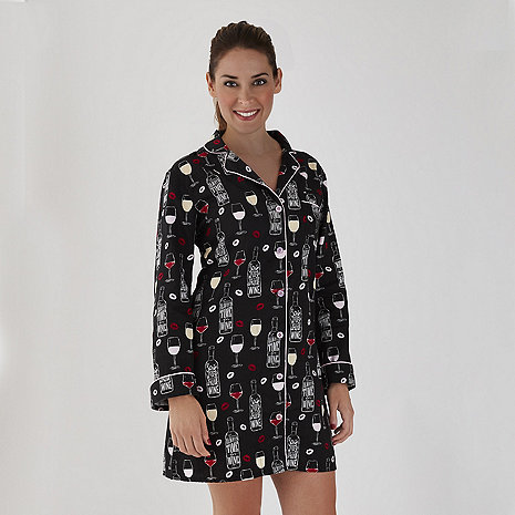 Women's Wine Time Pajama Nightshirt