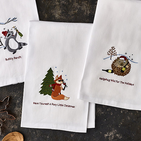 Woodland Creatures Kitchen Towels (Set of 3)