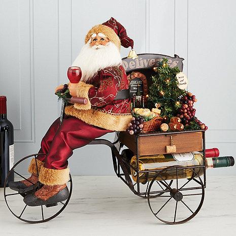 Karen Didion Wine Delivery Trike Santa