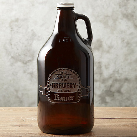 Personalized Etched 'CRAFT BREWERY' Beer Growler