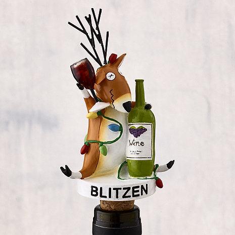 Blitzen All Lit Up Bottle Stopper