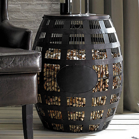 Barrel Cork Catcher Side Table