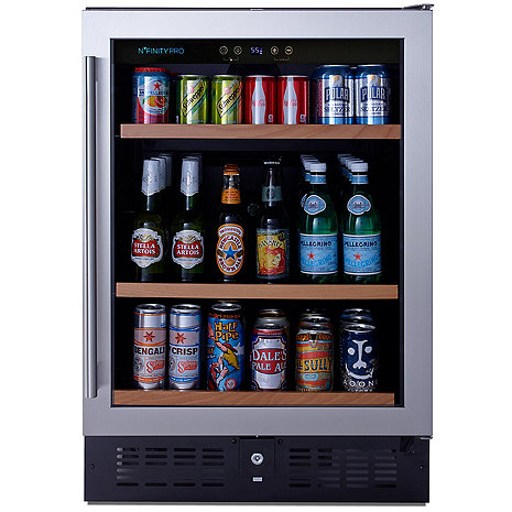 N'FINITY PRO S Beverage Center Right Hinge Stainless Steel Door (Outlet A)