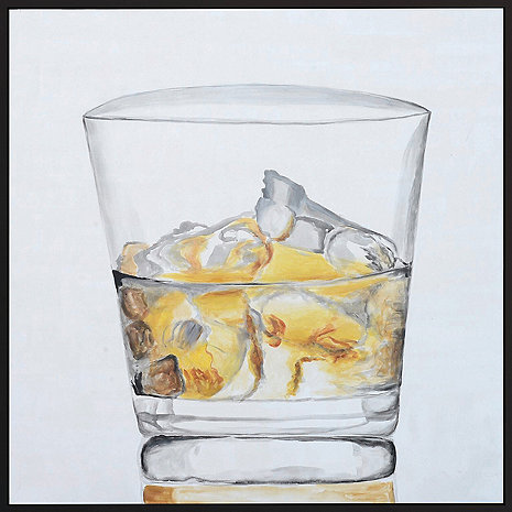 'On The Rocks' Hand-Painted Framed Canvas Art