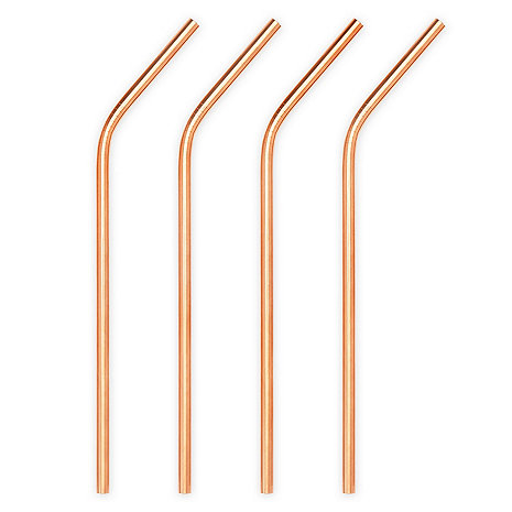 Copper Cocktail Straws (Set of 4)