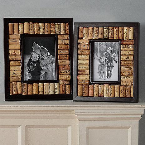 Wine Cork Picture Frame Kit Collection (Espresso Finish)