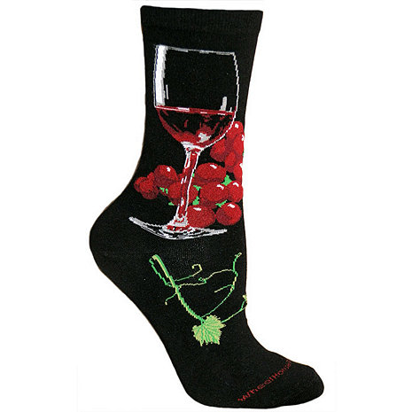 Black Wine Glass Socks (Large)