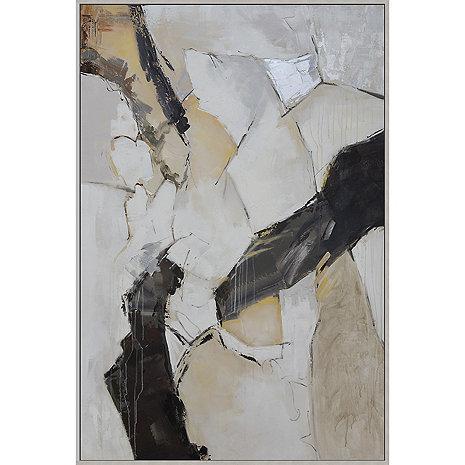 'Satellite' Hand-Painted Framed Canvas Art