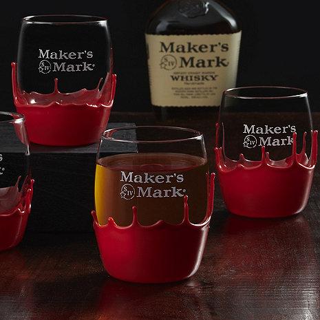 Maker's Mark Hand-Dipped Glasses (Set of 4)