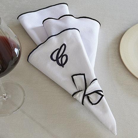 Wine-Resistant Napkins (White)