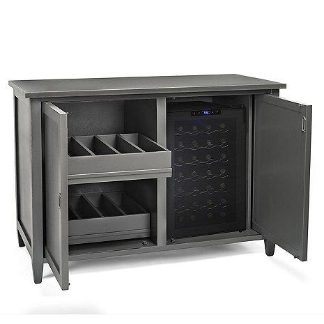 Firenze Mezzo Wine and Spirits Credenza with 28 Bottle Touchscreen Wine Refrigerator (Antique Grey)