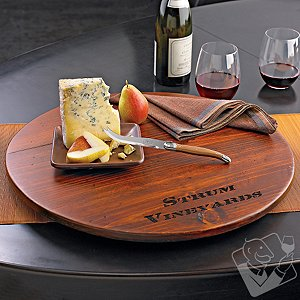 Personalized Wine Barrel Lazy Susan