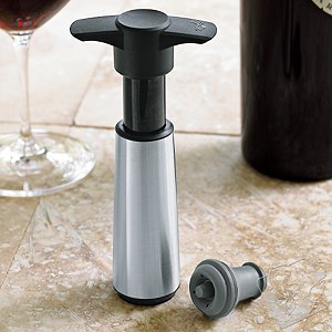 Vacu Vin Stainless Steel Vacuum Wine Saver