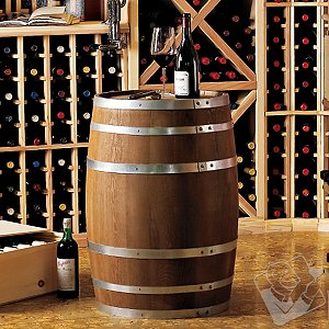 Decorative 30 Gallon Oak Wine Barrel